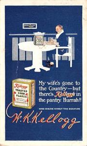 Advertising Post Card Kellogg's Toasted Corn Flakes 1913