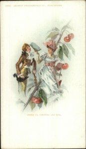 Detroit Publishing Romance Fantasy Giant Cherry Branch Beautiful Woman PC