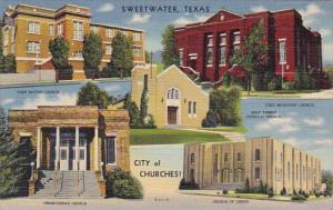 Texas Sweetwater City Of Churches 1943