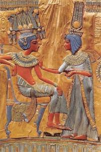 Egypt Tutankhamen Second Set, The Queen Annointing the King, Golden Throne