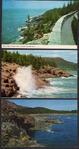 MAINE ME BAR HARBOR Lot 3 Acadia National Park Postcard