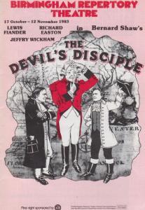 The Devils Disciple Bernard Shaw Kay Stonham Birmingham Theatre Programme
