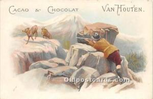 Advertising Postcard - Old Vintage Antique Tradecard backing Cacao & Chocolat...