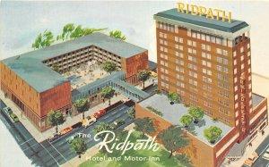 Spokane Washington 1960-70s Postcard Ridpath Hotel Artist Concept
