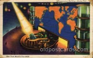 New York Worlds Fair 1939 exhibition postcard Post Card  Transportation Bldg.