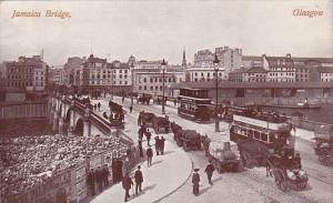 GLASGOW, Scotland, UK, 1900-1910s; Jamaica Bridge, Double Decker Buses
