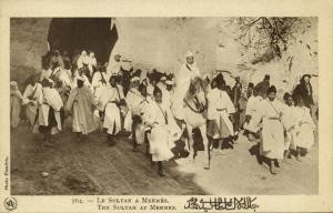 Sultan Yusef ben Hassan of Morocco at Meknes (1920s)