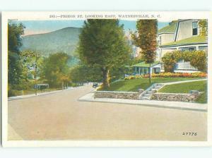 Unused W-Border VIEW OF STREET Waynesville North Carolina NC n1390