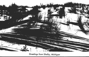 Michigan Greetings From Shelby Sand Dunes 1948 Real Photo