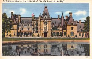 Biltmore House, Asheville, North Carolina, Early Linen Postcard, Unused