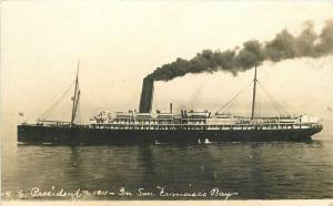 1911 SS President San Francisco Bay California RPPC real photo postcard 12088