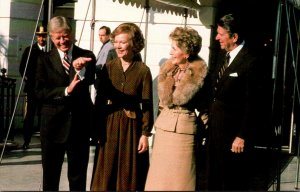 President Ronald Reagan The Cartters At Courtesy White House Visit