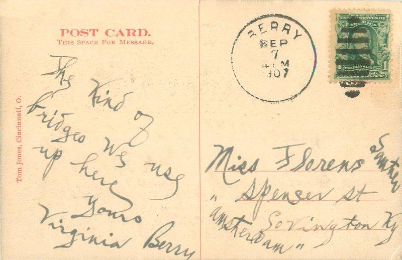 Kentucky Natural Bridge, KY 1907 Postcard