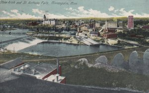 MINNEAPOLIS, Minnesota, PU-1914; Stone Arch And St. Anthony Falls