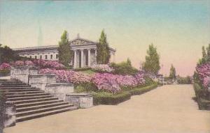 Pennsylvania Philadelphia Museum Of art Terrace Azalea In Bloom Albertype