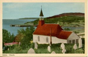 Canada - Quebec, Tadoussac. Old Indian Church