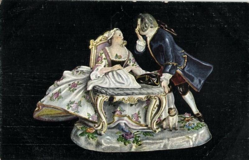 Dresden China, Meissner Porcelain, Porcelaine de Saxe (1910s) Postcard (2)