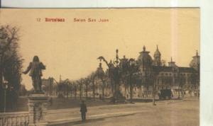 Postal 010562: Salon San Juan en Barcelona (arco triunfo al fondo)