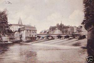 CPA Metz Digue des Pucelles et Moyen Pont (p84479)