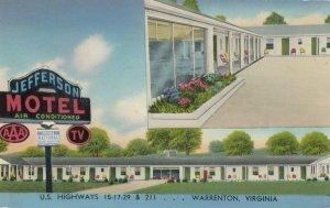 WARRENTON , Virginia, 1950-60s ; Jefferson Motel