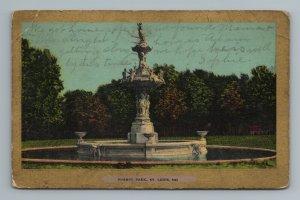 1900s Forest Park Gold Tone Border St Louis MO Missouri Postcard