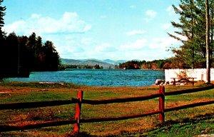 Maine Bridgton Highland Lake As Seen From Shorey Park