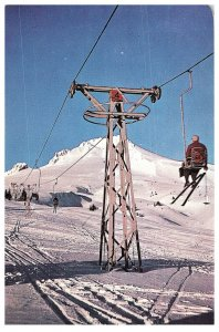 Vintage Unposted Magic Mile Ski Lift Mt. Hood, Oregon Postcard S0160
