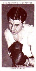 Churchman Cigarette Card Boxing Personalities No 28 Jock McAvoy