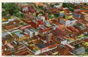 IN - Terre Haute, Aerial View Circa 1930