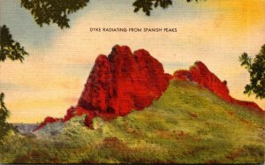 Colorado Dyke Radiating From Spanish Peaks 1944