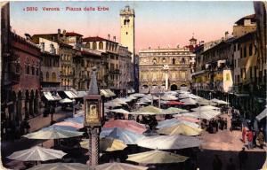 CPA VERONA Piazza delle Erbe . ITALY (493247)