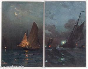 2 - Night Sailing Scenes / Tuck's 2715