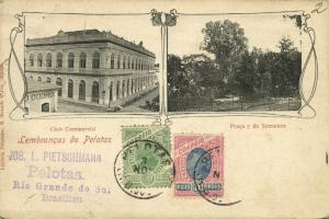brazil, PELOTAS, Club Commercial, Praça 7 de Setembro (1904) Strauch & Co.