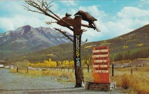 Canada Carving Of The Crows Blairmore Alberta