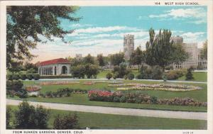 Colorado Denver West High School From Sunken Gardens
