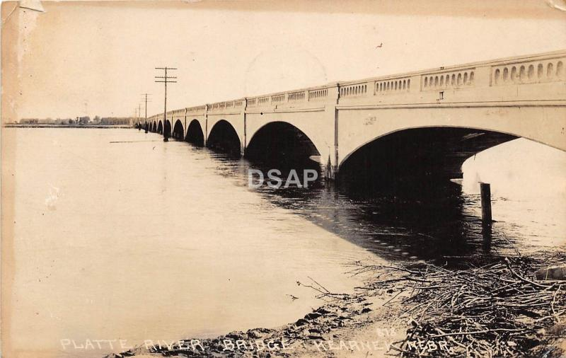 C95/ Kearney Nebraska Ne Real Photo RPPC Postcard 1922 Platte River Bridge