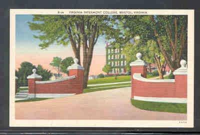 Virginia colour Postcard Intermont College Bristol