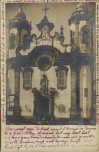 brazil SÃO JOÃO DEL-REI Minas Gerais, Igreja de São Francisco de Assis 1905 RPPC