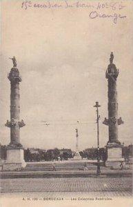 France Bordeaux Les Colonnes Rostrales 1919