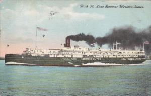 D&B Line Steamer Western States , PU-1908