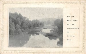 G23/ Batavia Ohio Postcard East Fork Miami River View
