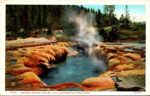 Yellowstone National Park Oblong Geyser Crater Haynes Photo