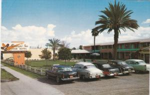 MESA, Arizona, 1950-1960's; Maricopa Inn Motor Hotel, Classic Cars, Route 60,...