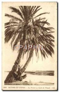 Old Postcard Scenes And Types of Prayer at the edge of & # 39Oued