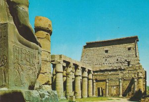 POSTAL 62583 : Explanada de Ramses II con pilon en el templo de Luxor. El cai...