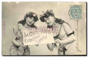Old Postcard Postcards Postcard maintains the & # 39amitie