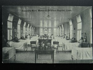 Yorkshire Leeds WOMEN & CHILDRENS HOSPITAL Alexandra Ward c1912 Postcard