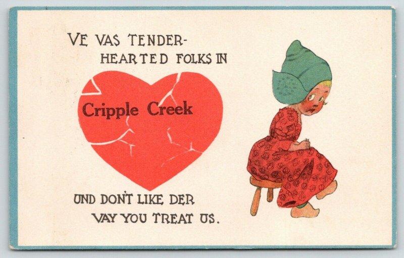 Cripple Creek Colorado~Tender Hearted Girl Dont Like Der Vay You Treat Us~1913