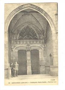 Colleglale Saint-Aubin- Porche Sud, Guerande (Loire-Atlantique), France, 1900...