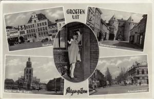 RP; 5-Views, Groeten Uit BERGEN OP ZOOM, Noord-Brabant, Netherlands, PU-1953